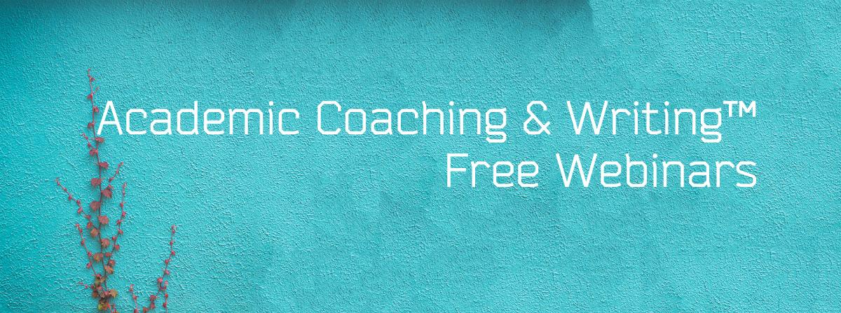 ACW Spring-Summer Webinar Series