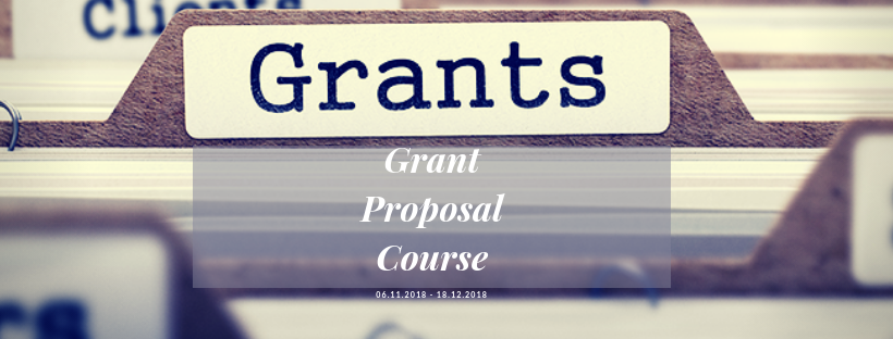 Grant Proposal Course starts this November (2018)
