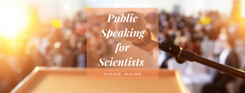 Public Speaking for Scientists starts the 25rd of October, 2018, at NUST MISiS (Register to Attend)