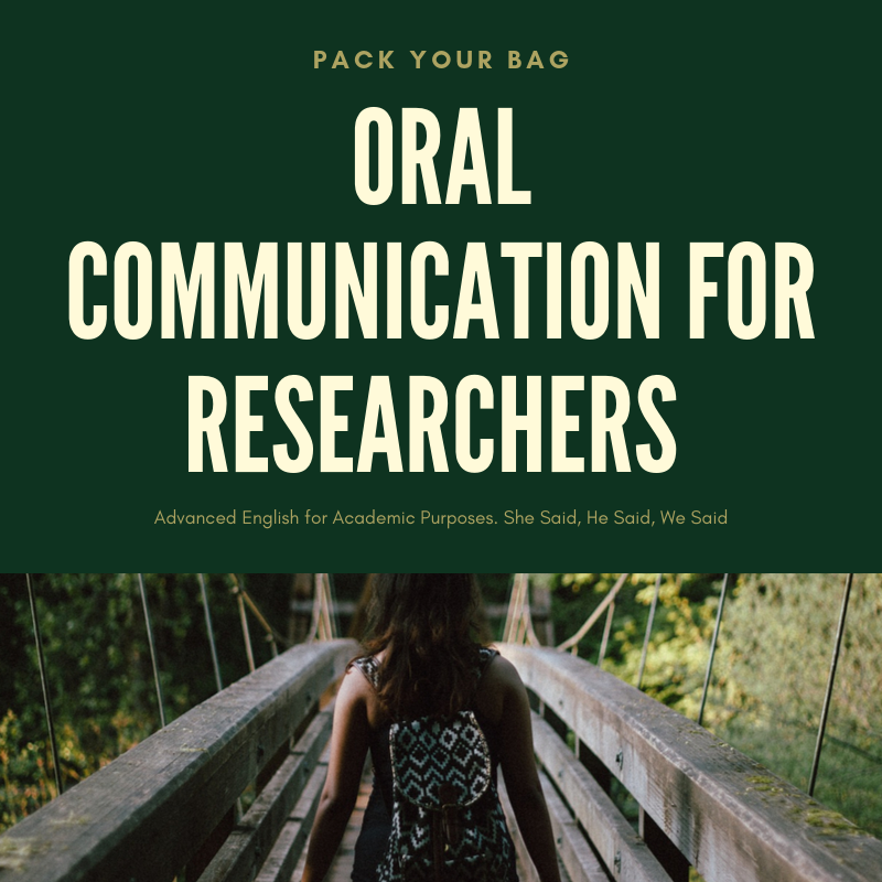 Oral Communication for Researchers